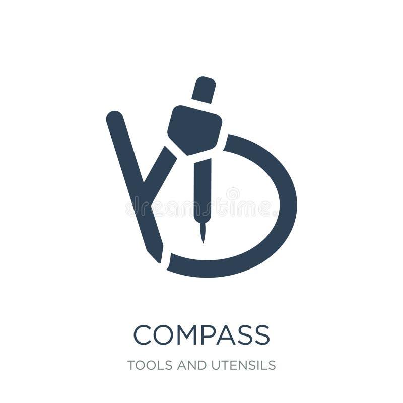 指南针为得出圈子象的数学工具在时髦设计样式 指南针为得出圈子象的数学工具 皇族释放例证