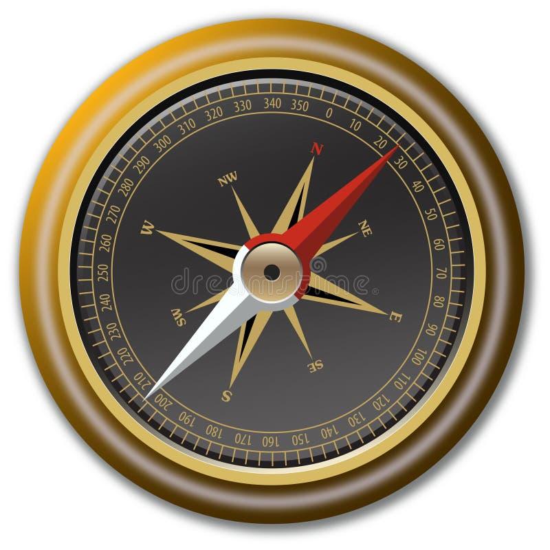 指南针向量 皇族释放例证
