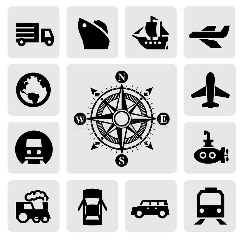 指南针和运输 免版税图库摄影