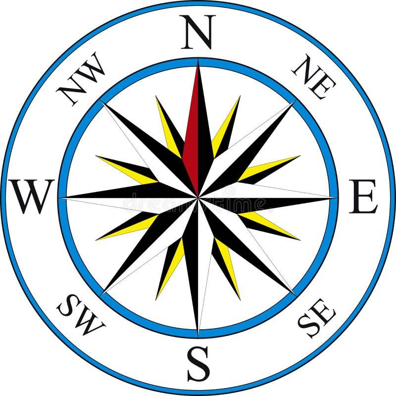 指南针图标 皇族释放例证