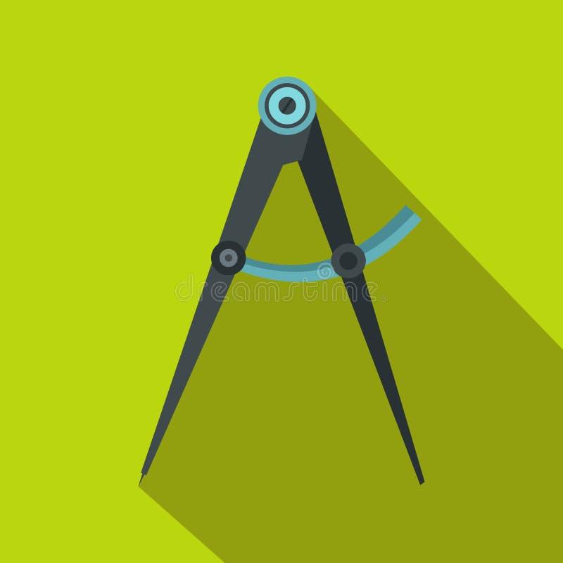 指南针工具象,平的样式 皇族释放例证