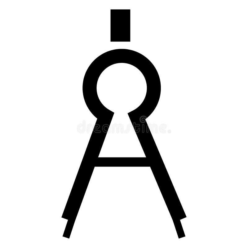 指南针工具象,简单的样式 向量例证