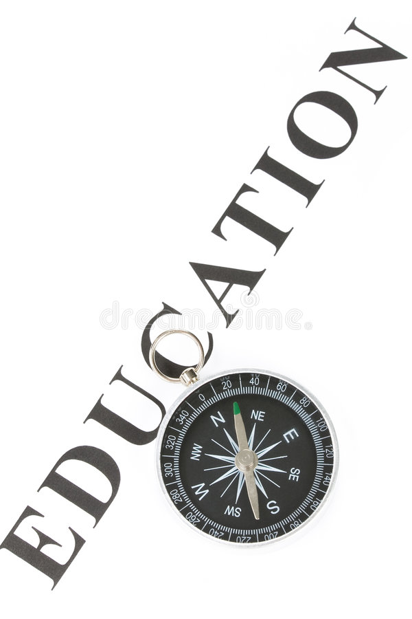 指南针教育标题 库存图片