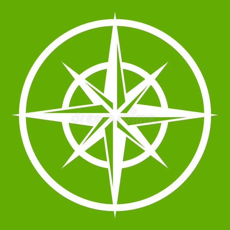 指南针的标志确定主要方向 库存例证