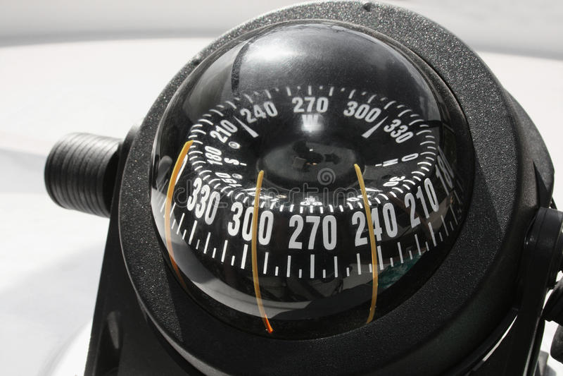 指南针船游艇 免版税图库摄影