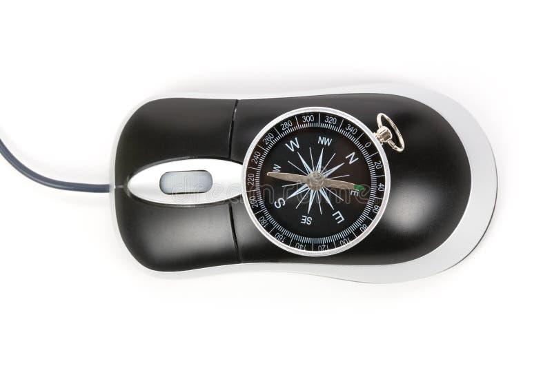 指南针计算机鼠标 免版税图库摄影