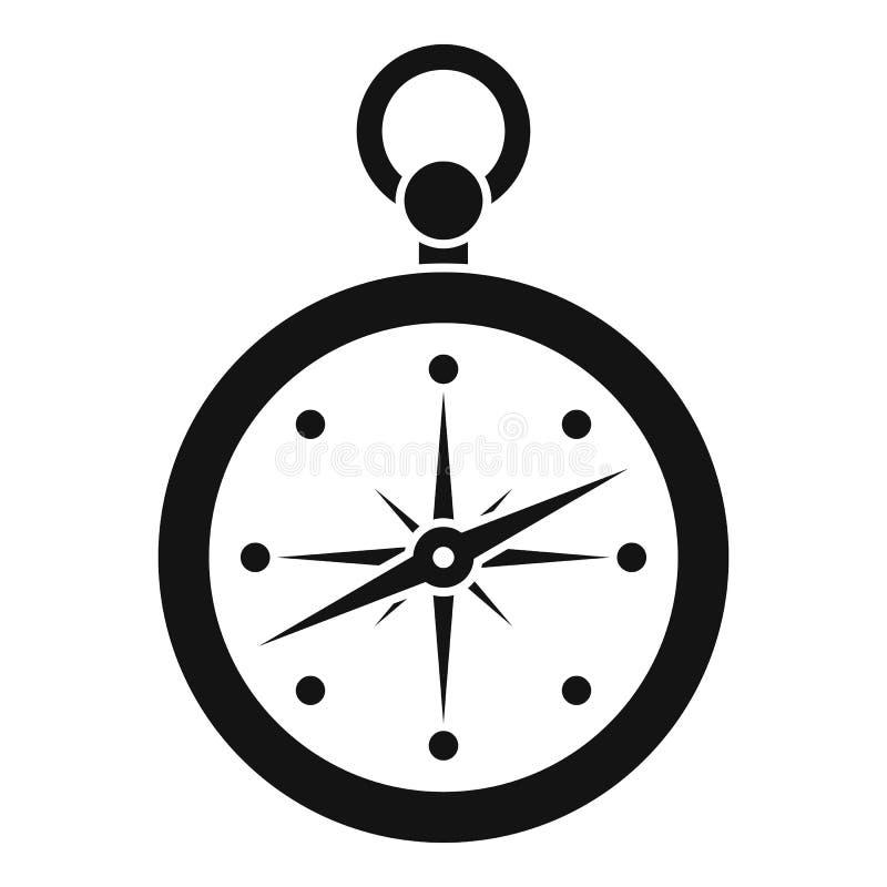 指南针象,简单的样式 向量例证