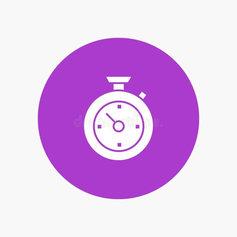 指南针,定时器,时间,旅馆白色纵的沟纹象 皇族释放例证
