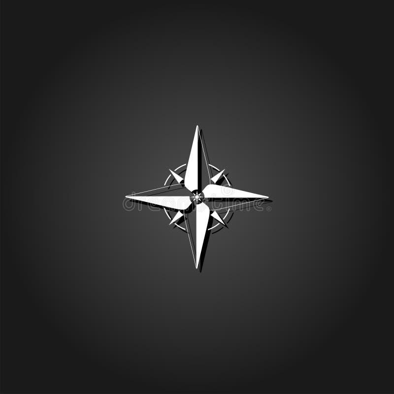 指南针,windrose象舱内甲板 向量例证