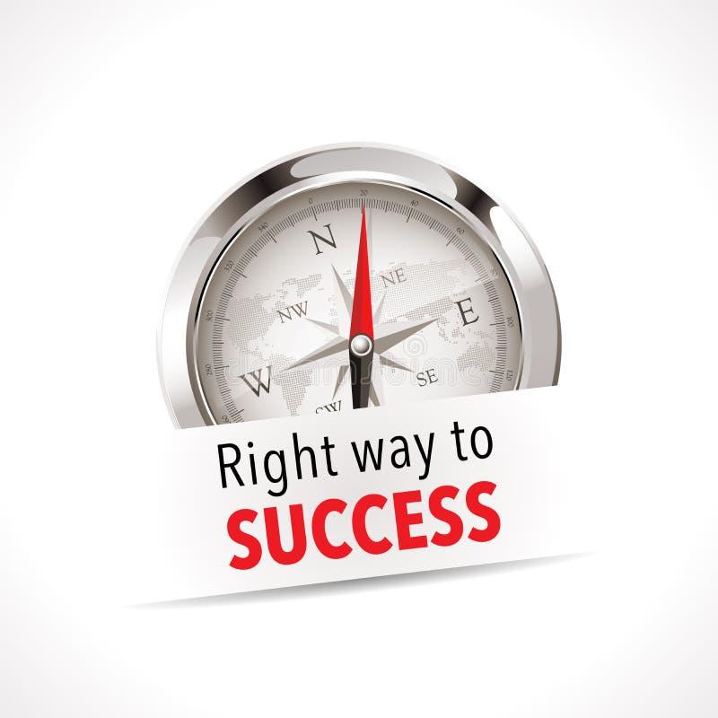指南针-正确的方式 库存例证