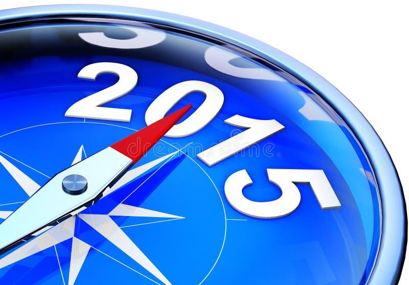 指南针2015年 向量例证
