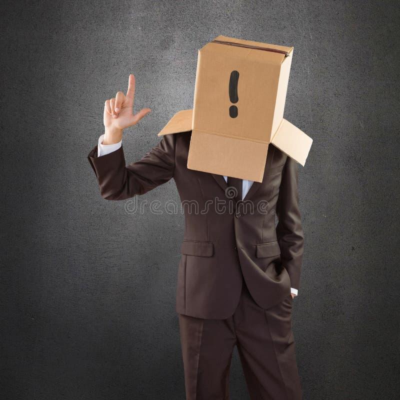 指向与手指的匿名商人的综合图象 免版税图库摄影