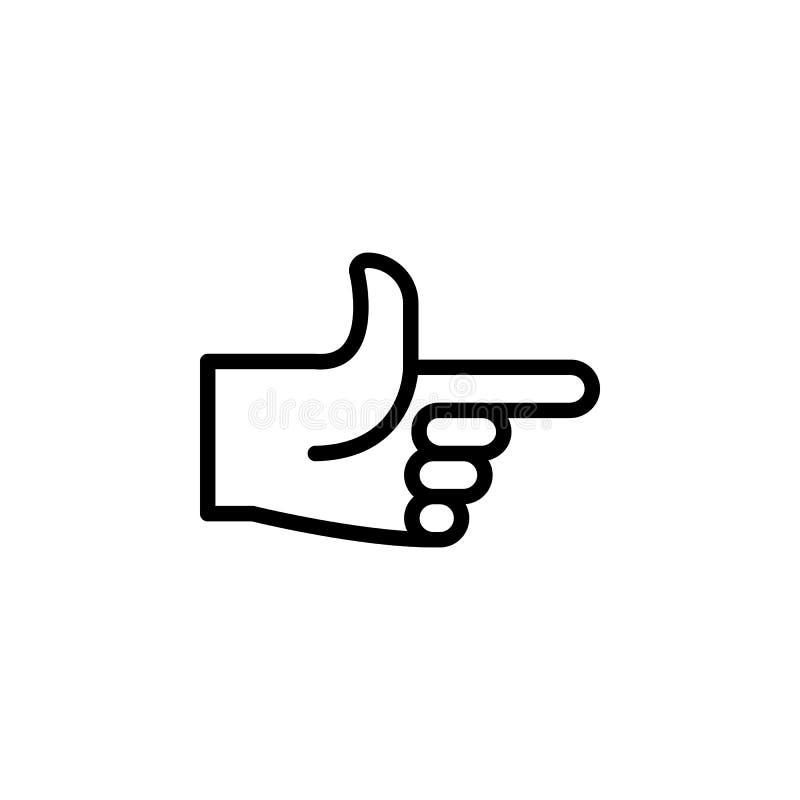 指向右手姿态概述象 手势例证象的元素 标志,标志可以为网,商标使用, 向量例证