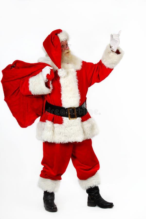 指向圣诞老人 库存照片