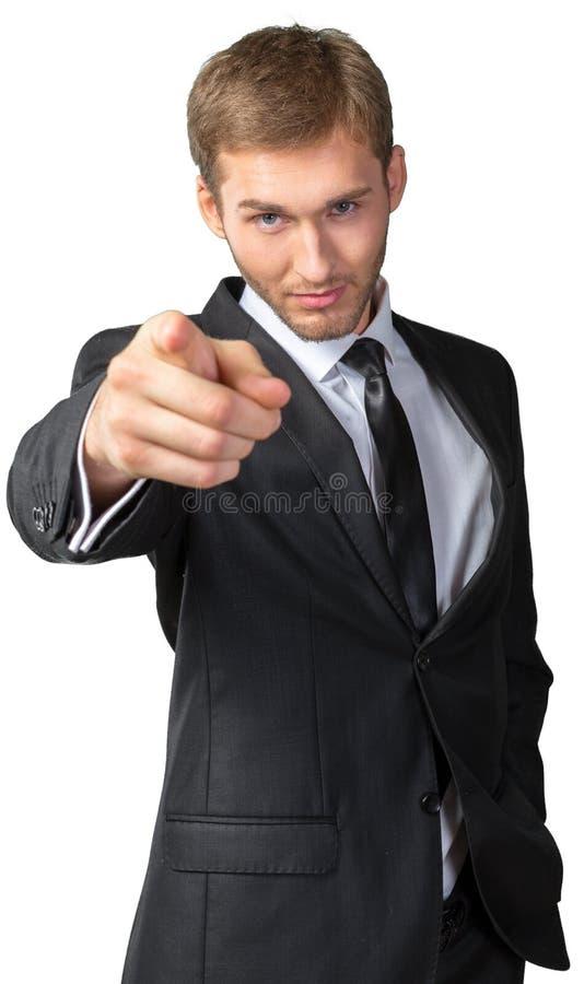 指向在您的商人 免版税库存图片