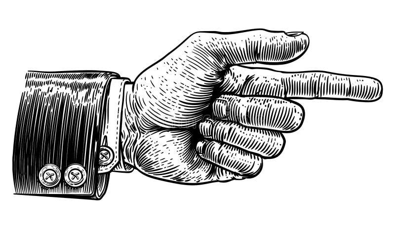 指向在西装的手手指方向 库存例证