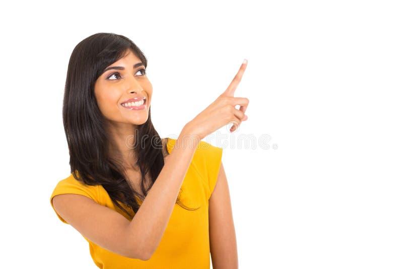 指向妇女 免版税库存图片
