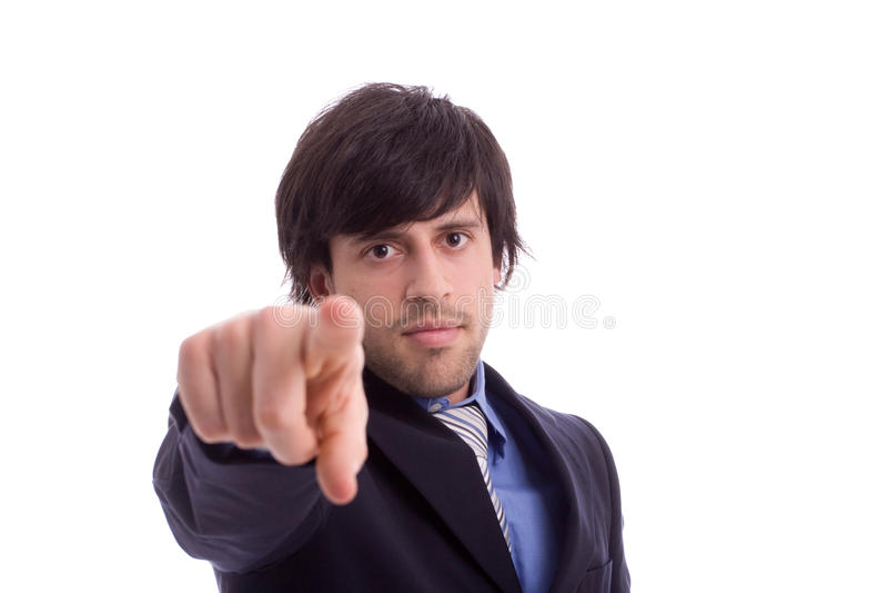 指向年轻人的企业转接人 免版税库存图片