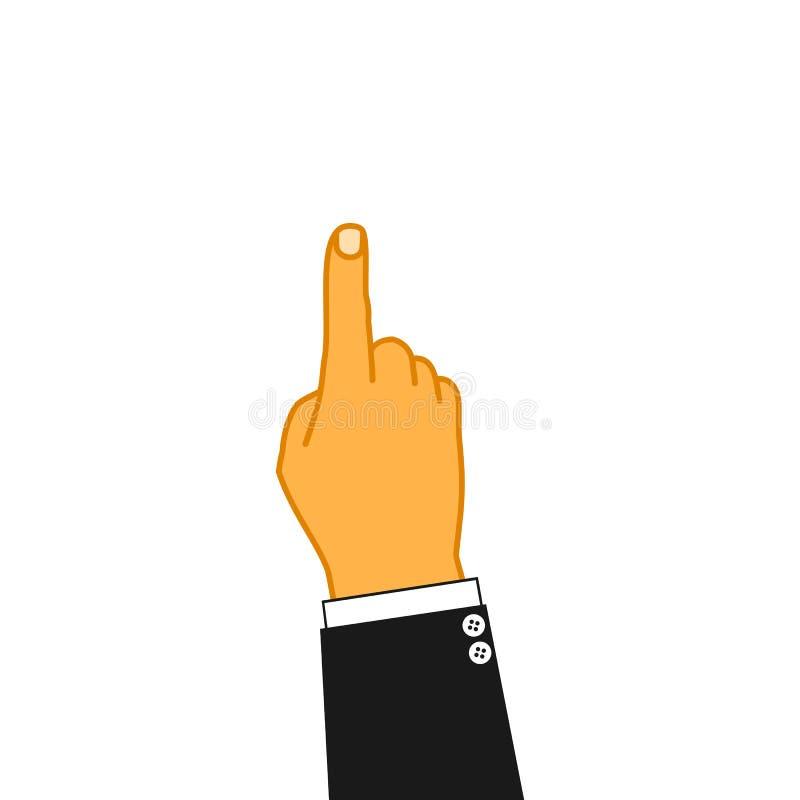 指向手指传染媒介例证 库存例证