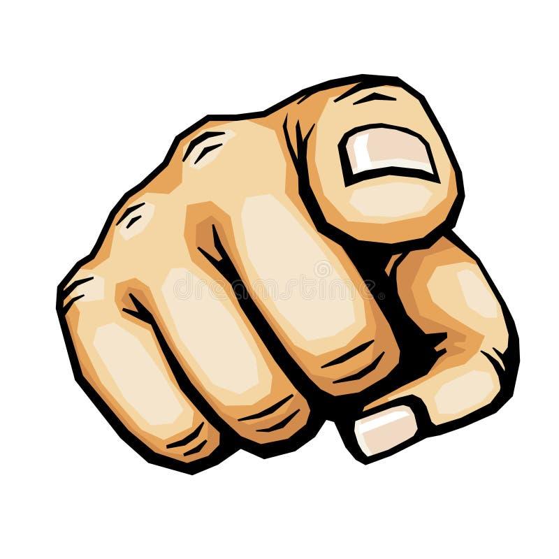 指向手指传染媒介例证的手 向量例证
