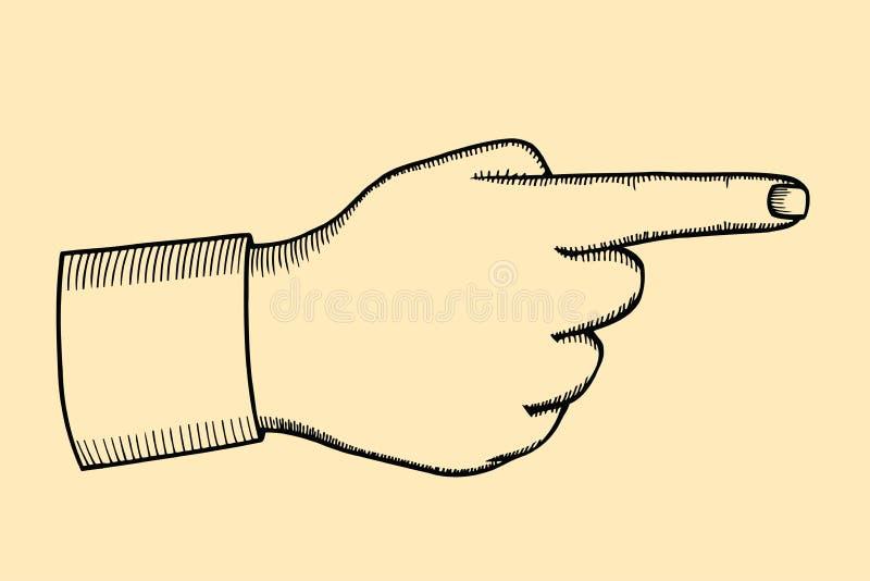 指向手指例证 库存例证
