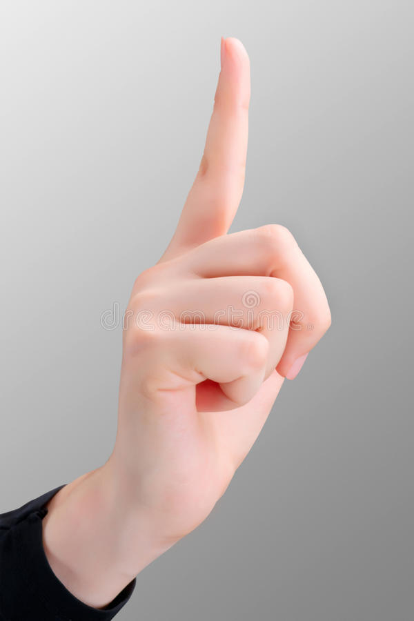 指向手指 免版税库存照片