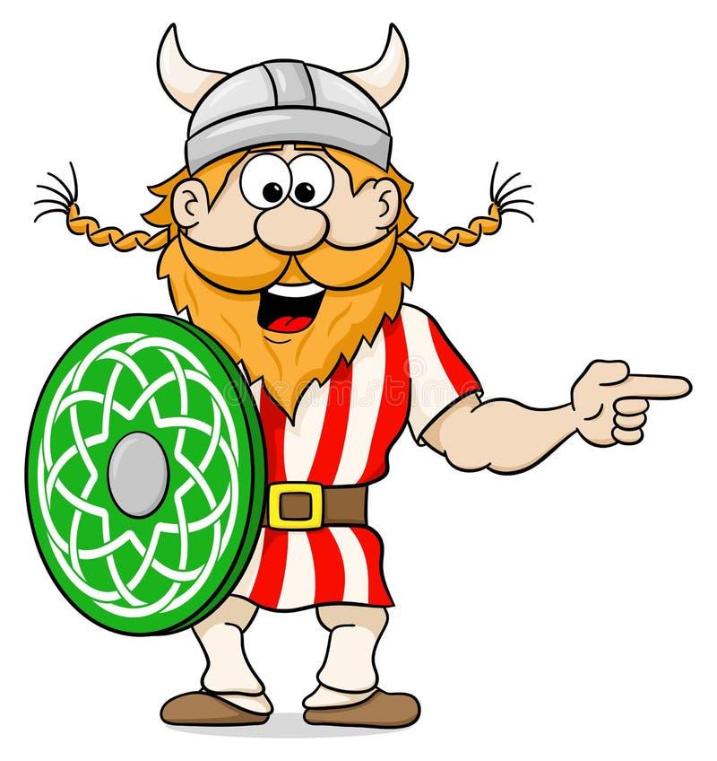 指向某事的北欧海盗 皇族释放例证