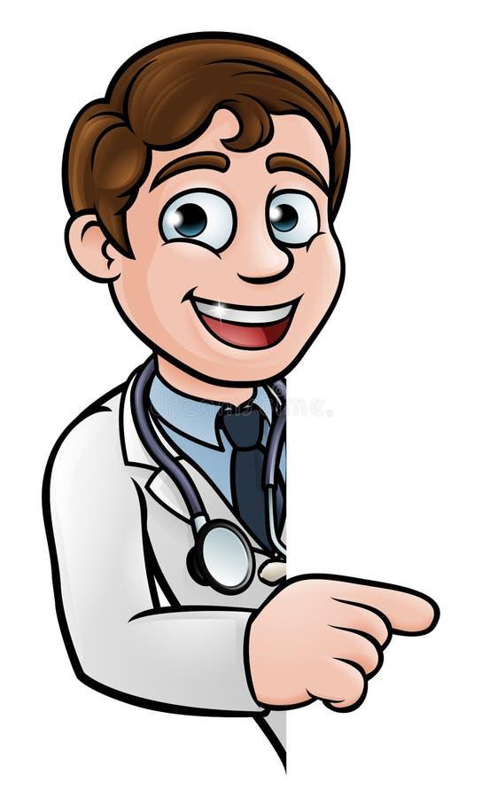 指向标志的医生漫画人物图片