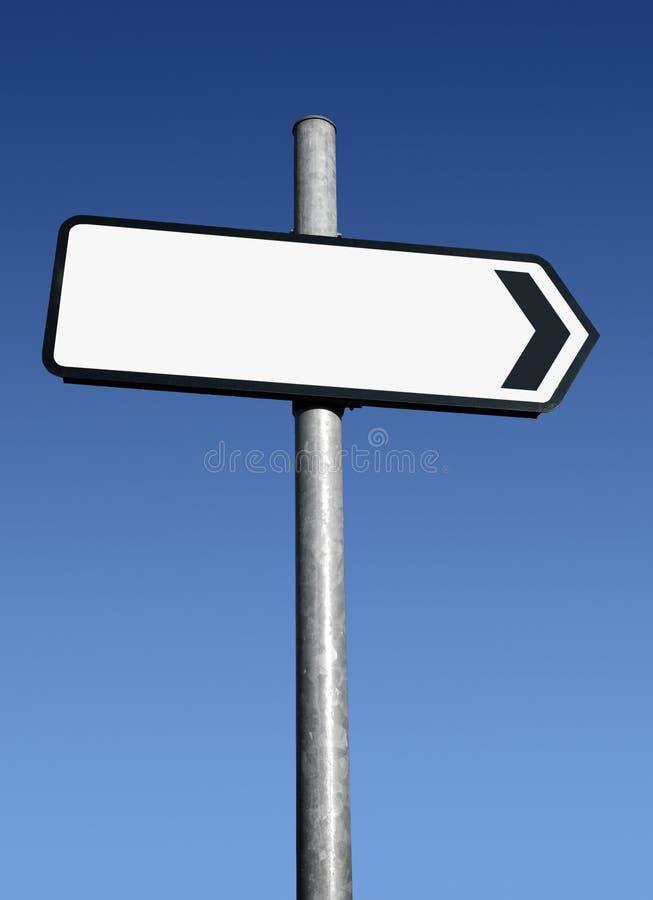 指向正确的符号白色的空白方向 库存照片