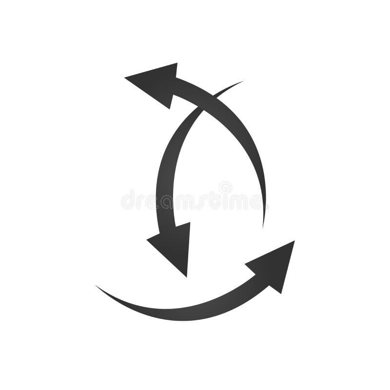 指向用不同的方向的三个箭头 选择方式概念 也corel凹道例证向量 库存例证