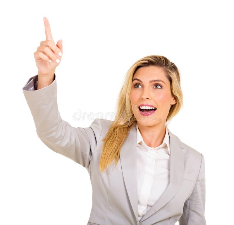 指向的女实业家 免版税库存照片