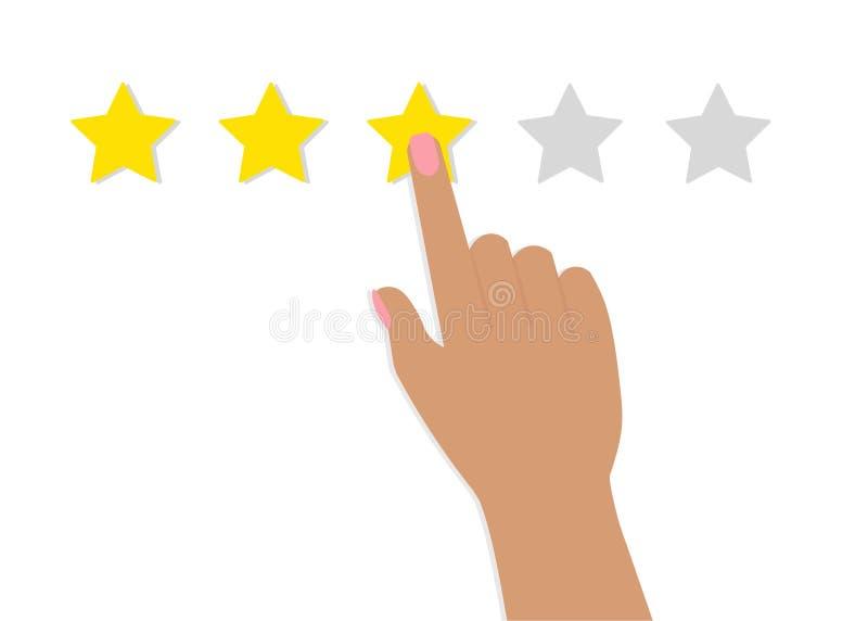 指向的手,手指妇女星规定值 向量例证