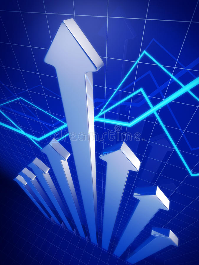 指向箭头企业财务的增长  皇族释放例证