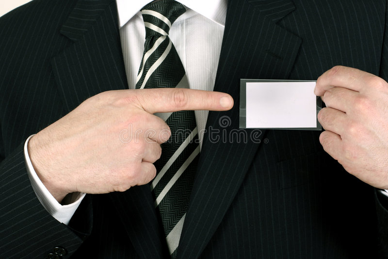 指向销售人员 免版税库存照片