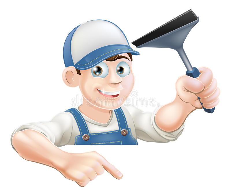 指向风窗清洁器 库存例证