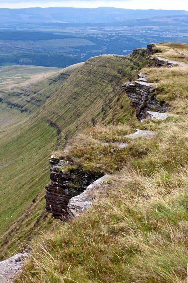 指引brecon国家公园英国威尔士 免版税图库摄影
