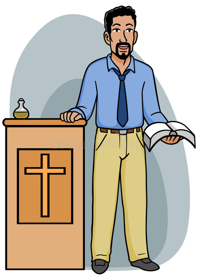 指挥台传教者 库存例证