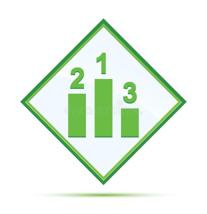 指挥台象现代抽象绿色金刚石按钮 向量例证