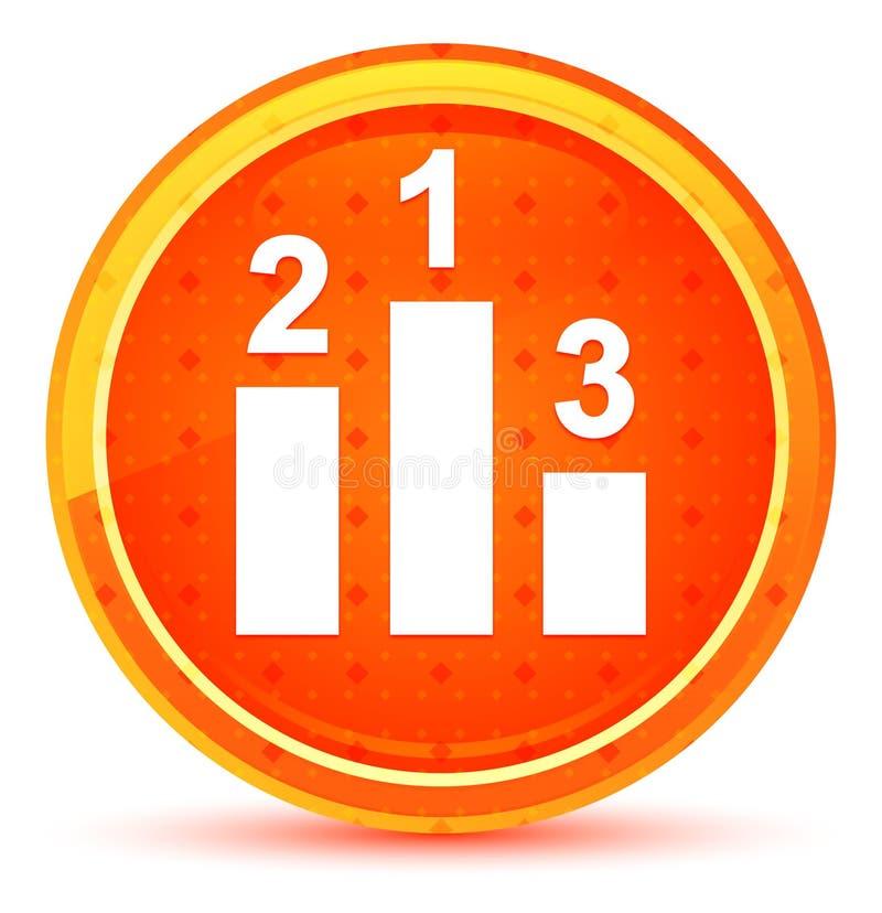 指挥台象自然橙色圆的按钮 库存例证