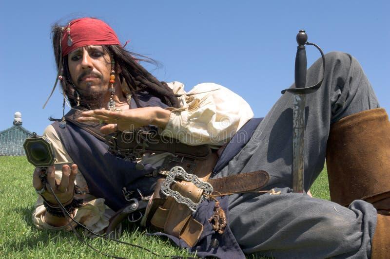 指挥海盗 免版税库存图片