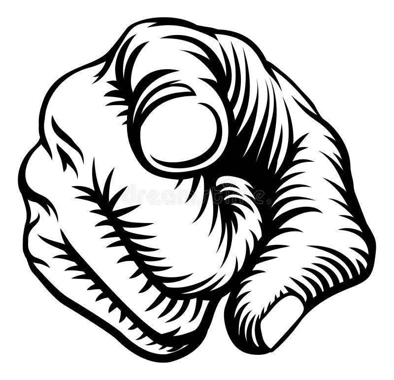 指点手拳头想要您 皇族释放例证