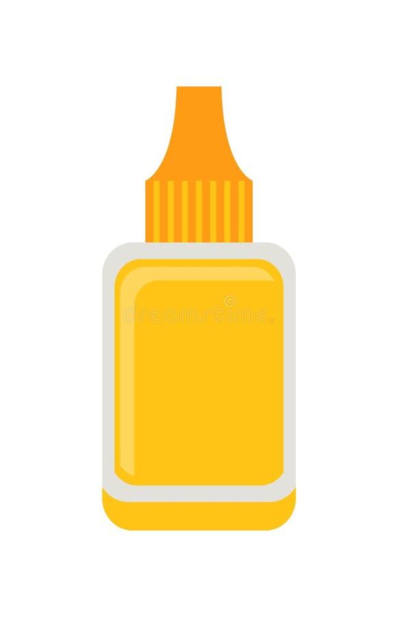 指甲油去膜剂海报传染媒介例证 皇族释放例证