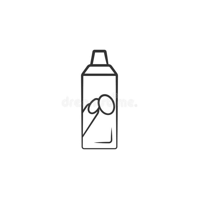 指甲油去膜剂管象 妇女流动概念和网应用程序的构成象的元素 详细的指甲油去膜剂管 皇族释放例证