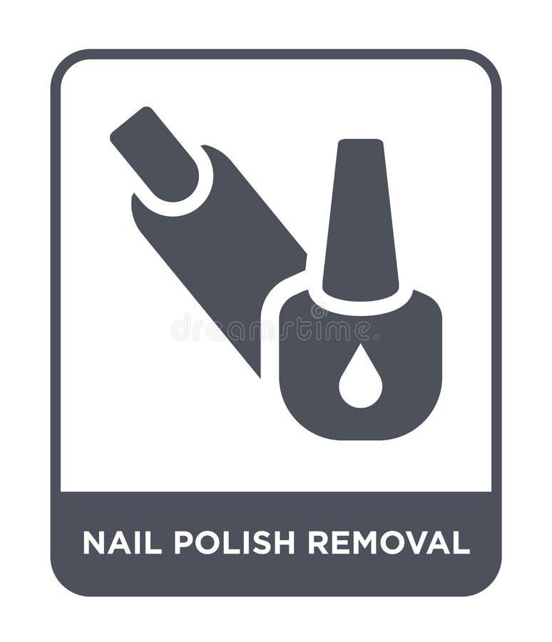 指甲油在时髦设计样式的撤除象 指甲油在白色背景隔绝的撤除象 指甲油撤除传染媒介 库存例证