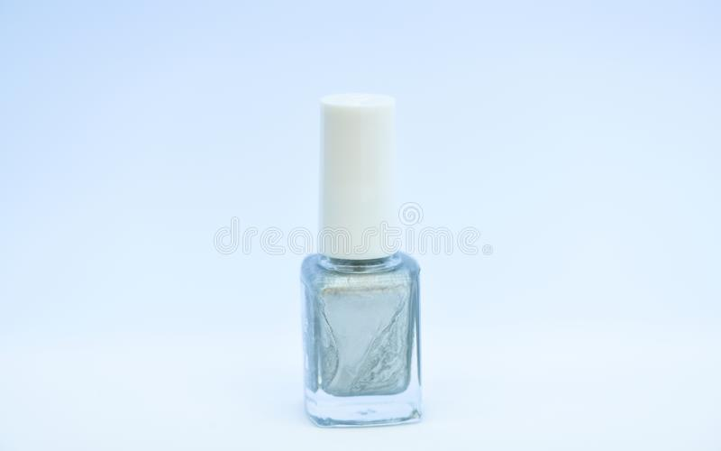 指甲油瓶明亮的颜色 i E r 耐久性和 库存照片