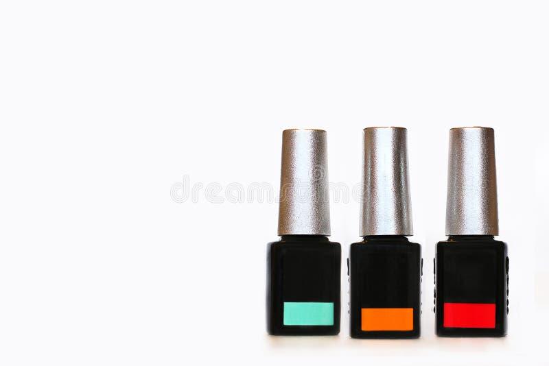 指甲油 指甲油的大选择 库存照片