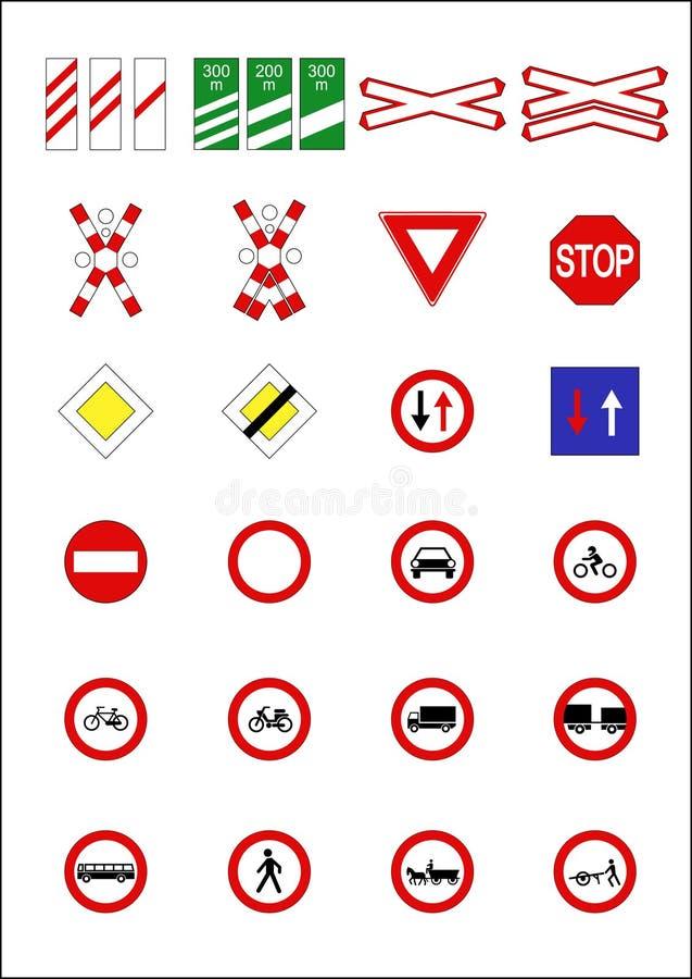 指示符路标 向量例证