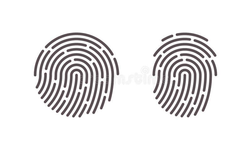 指纹传染媒介指纹扫描商标象 向量例证