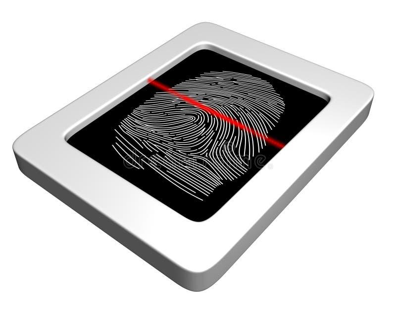 指纹扫描程序 向量例证