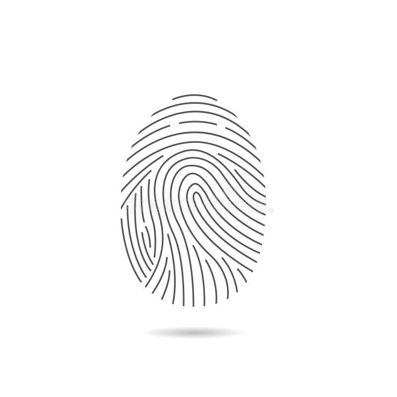 指纹扫描象 皇族释放例证